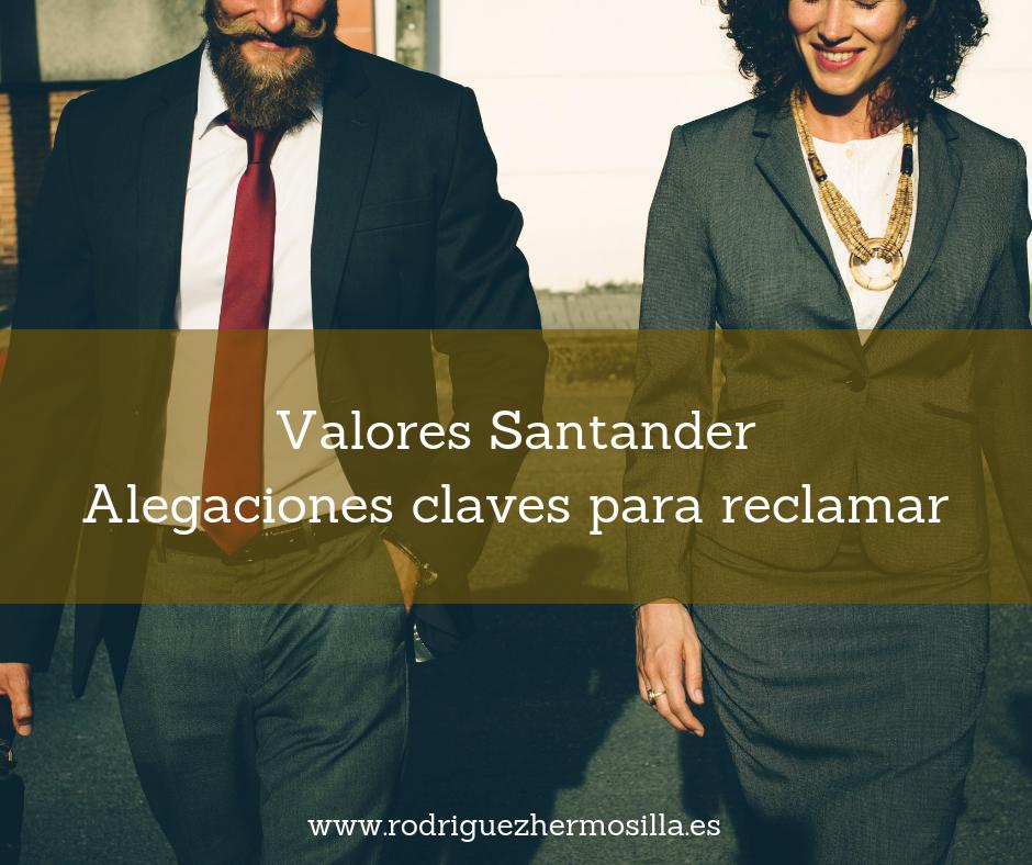 alegaciones valores Santander